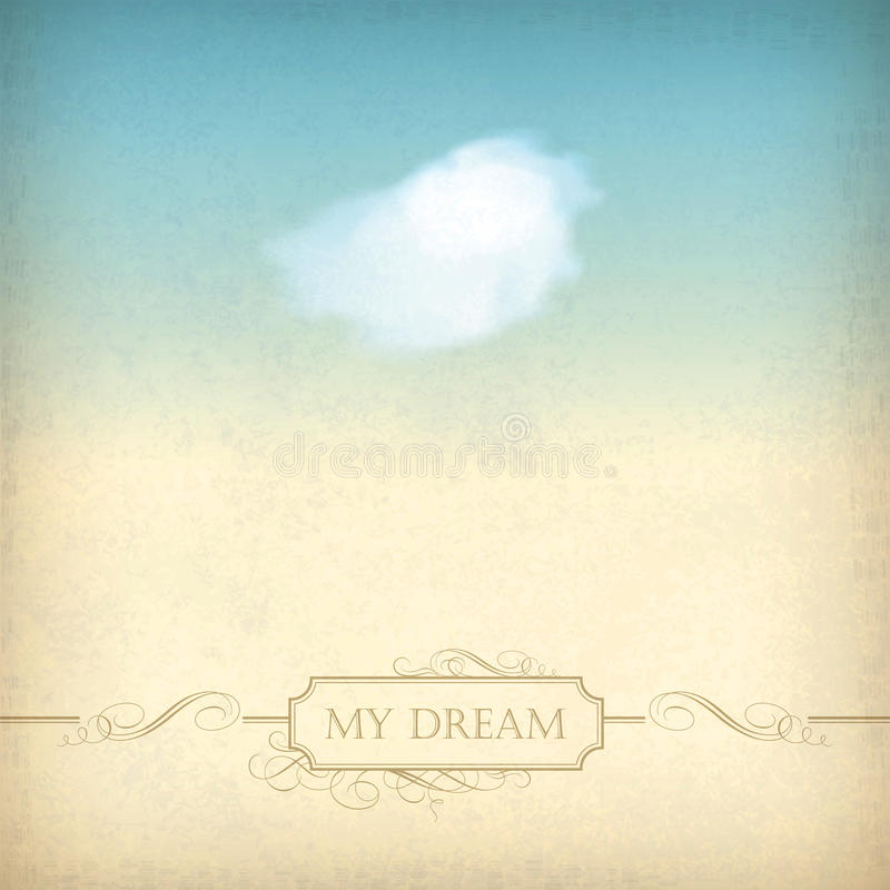 Free Vintage Sky Old Paper Background With Cloud, Frame Stock Images - 29441594