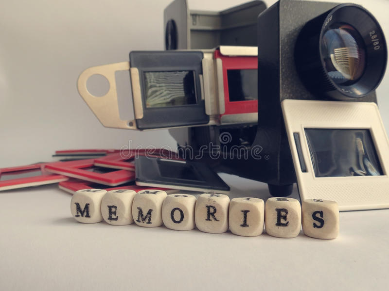 Vintage slide projector royalty free stock photography