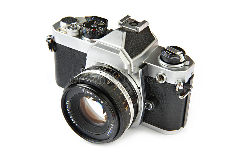 Vintage SLR camera royalty free stock photography