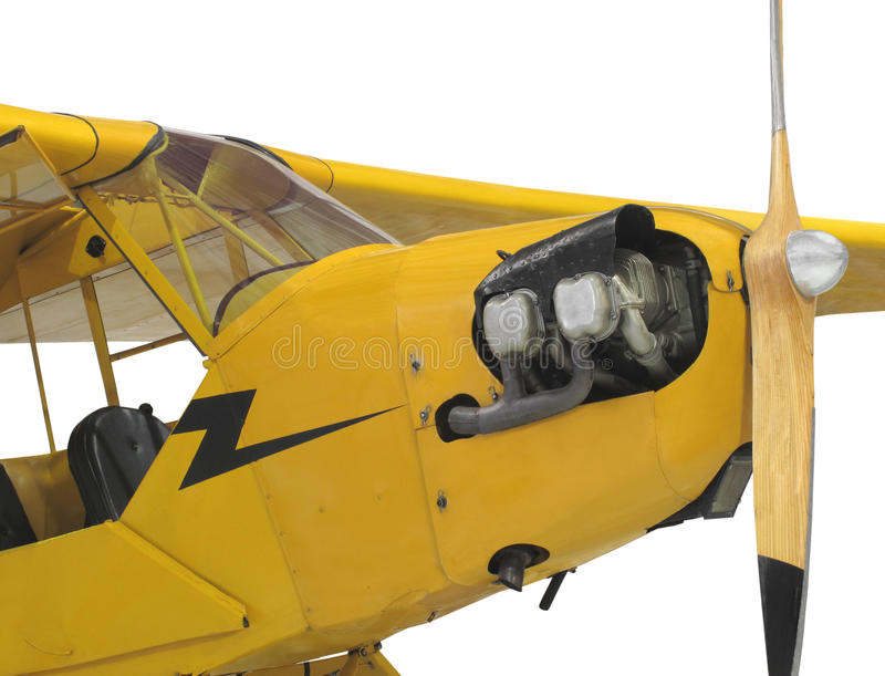 Download Vintage Small Aircraft Isolated. Stock Photo - Image: 28573760