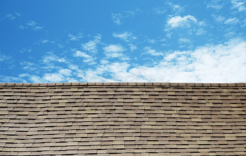 Vintage small tile roof stock images