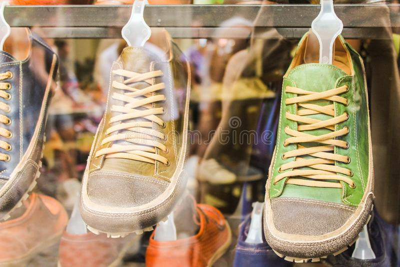 Vintage Sneakers Retro Extreme Grunge Shoes. Trainers  Youth Run royalty free stock images