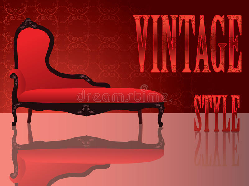 Vintage Sofa Stock Images