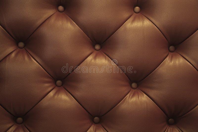 Vintage Sofa Button de cuero marrón imágenes de archivo libres de regalías