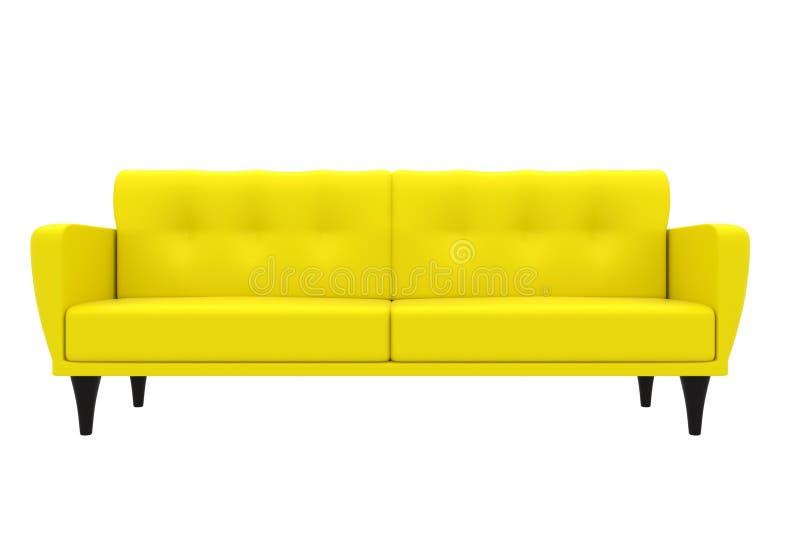 Vintage Sofa Interior 3D Model Stock Illustration - Illustration of ...