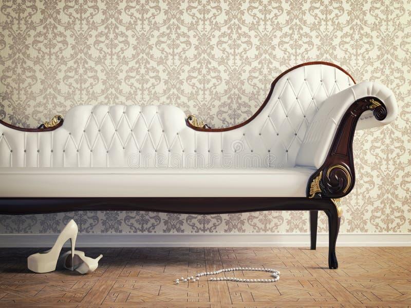 Vintage sofa royalty free illustration