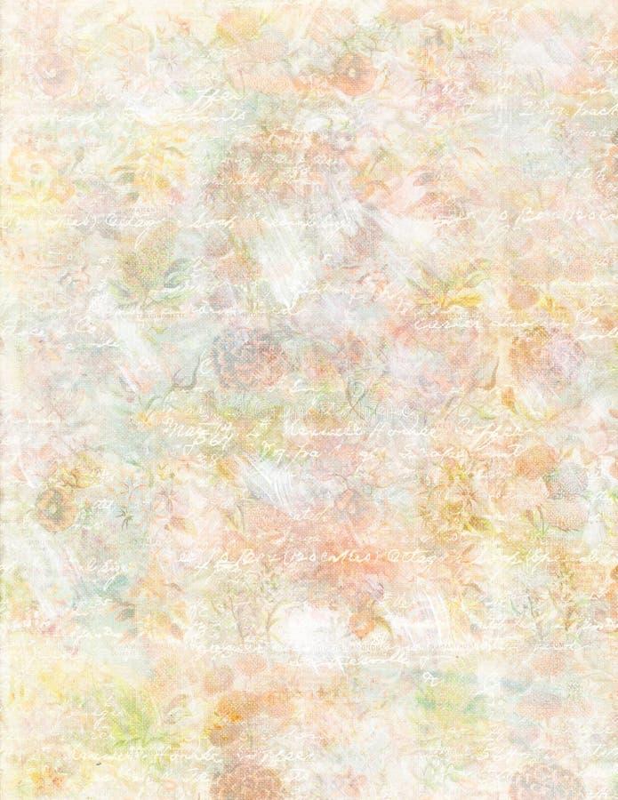 Vintage soft Grungy Floral Wallpaper Pattern with text. Vintage pastel Grungy Floral textured Wallpaper Pattern with text royalty free stock photos