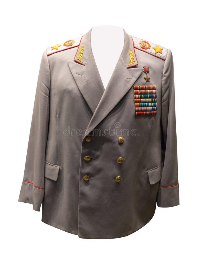 Vintage Soviet military clothing.jacket of the Soviet marshal royalty free stock photos