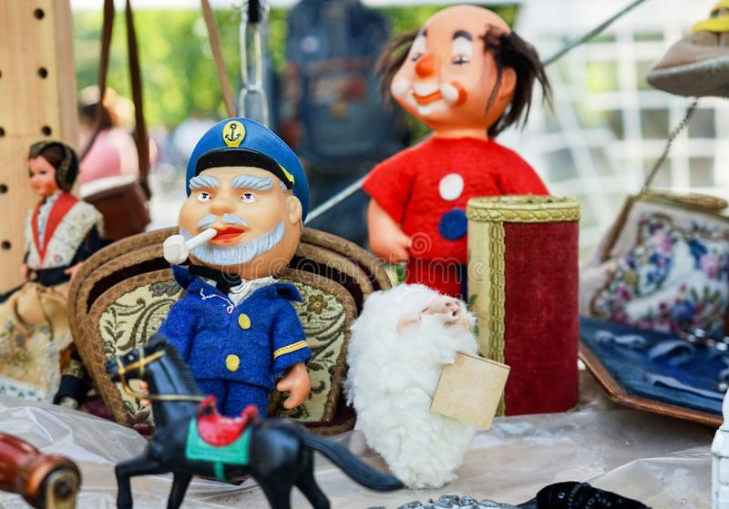 Vintage Soviet toys of the 1960s and 1970s royalty free stock images