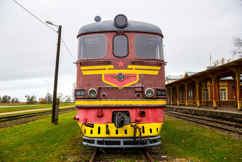 Download Vintage Soviet Train Editorial Stock Image Of Locomotive