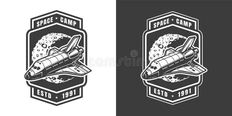 Vintage space label concept vector illustration