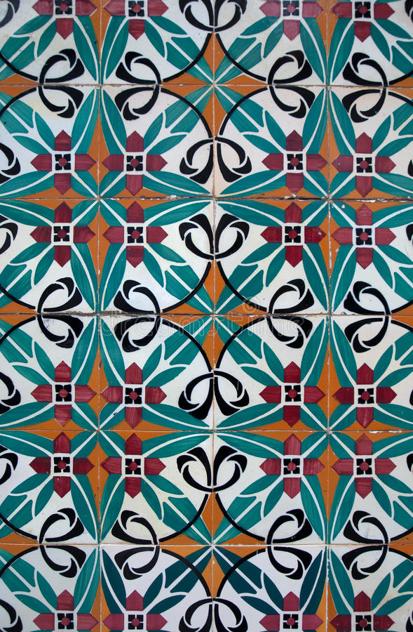 Download Vintage Spanish Style Ceramic Tiles Stock Photo - Image of colorful, vintage: 18964552