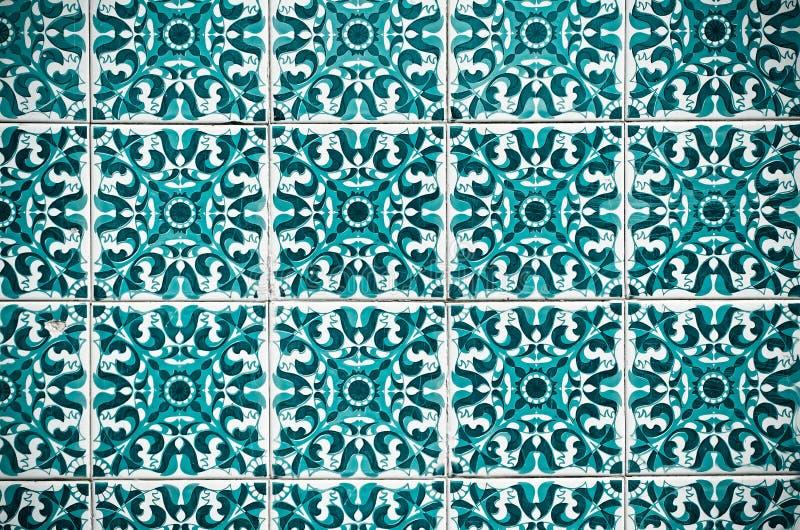 Vintage spanish style ceramic tiles stock image