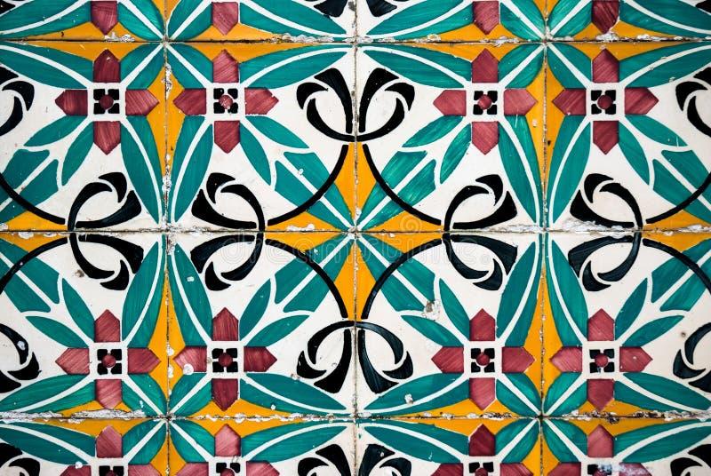 Vintage spanish tiles stock photos