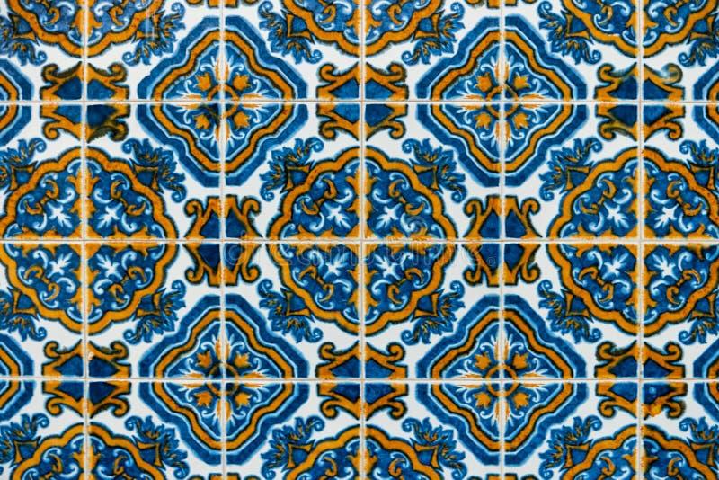 Vintage spanish tiles stock photo