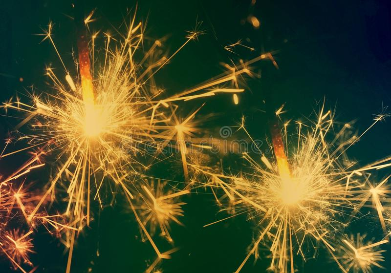 Vintage sparkle fire background. Winter holiday background royalty free stock photos
