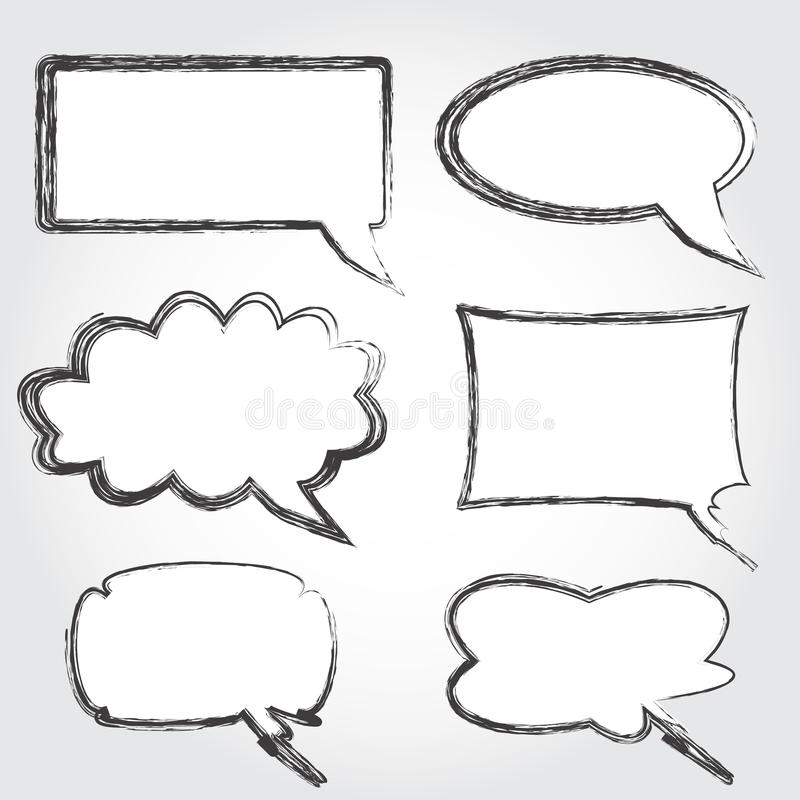 Download Vintage speech bubbles stock vector. Image of background - 24259711