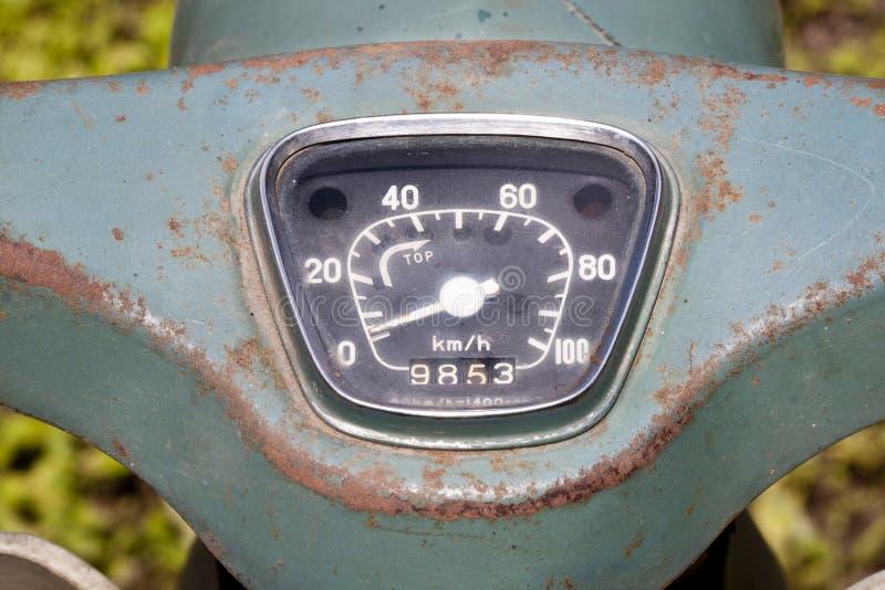 Vintage Speedometer Of Motorcycle Stock Photos