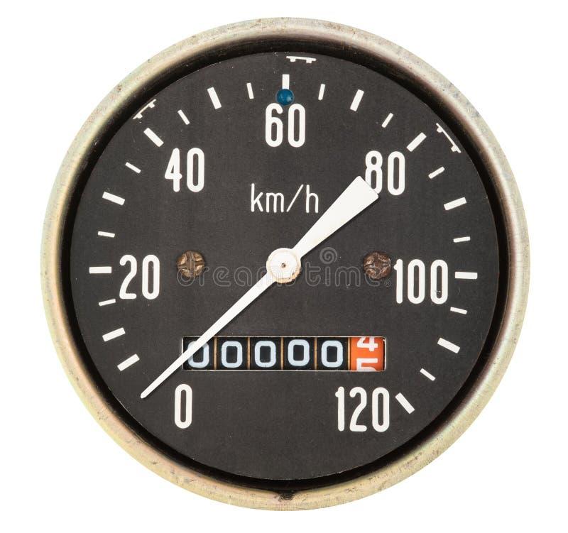 Vintage speedometer stock photography