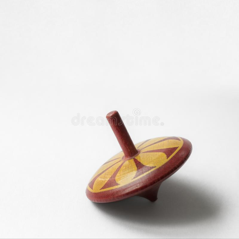 Old spinning top stock photography