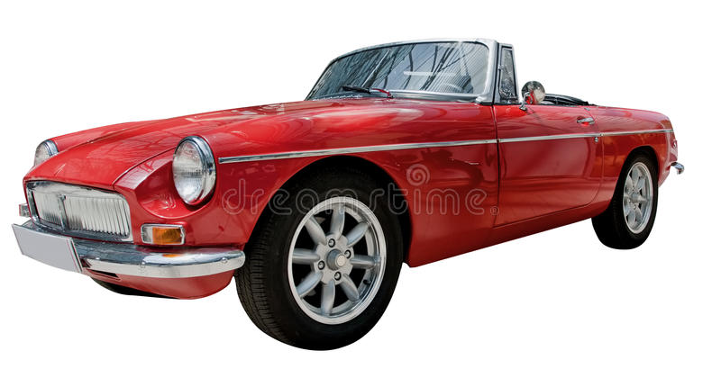 Vintage sport convertible classic car isolated stock image