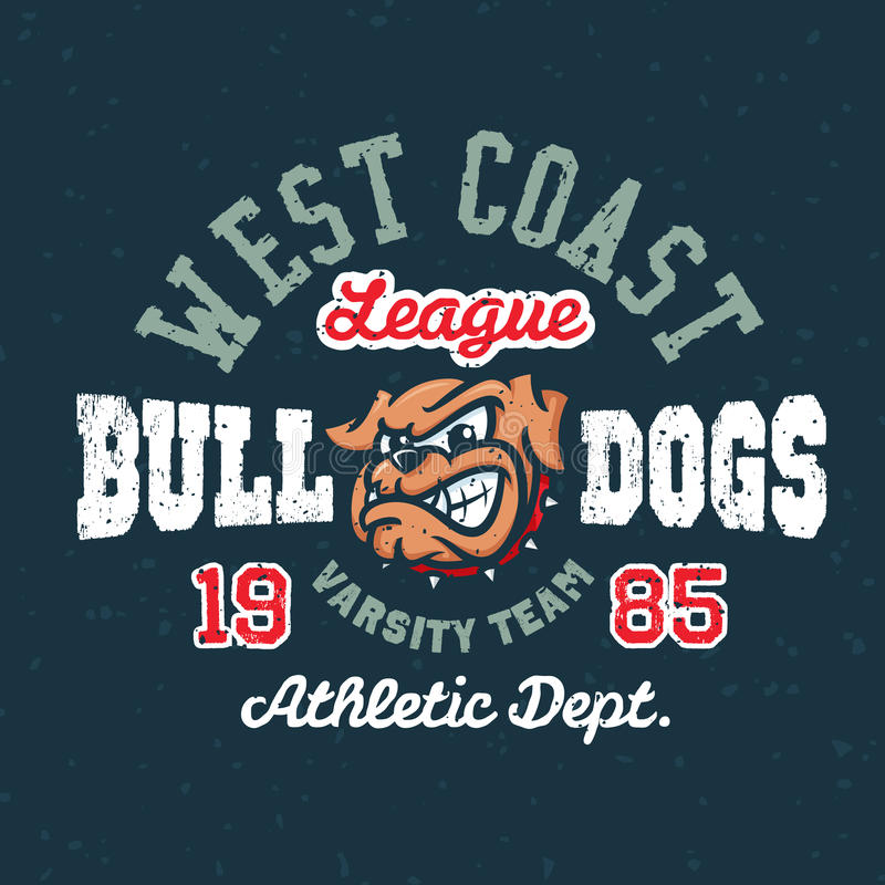 Vintage sport varsity apparel design vector illustration