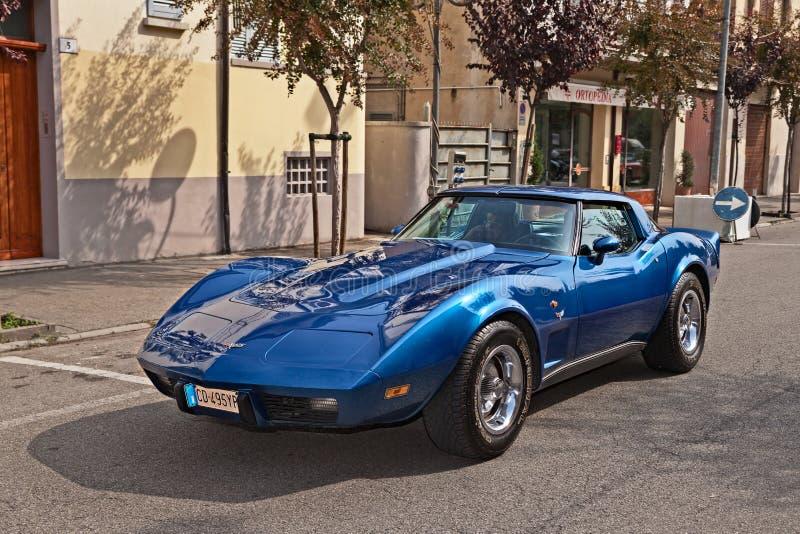 Vintage sports car Chevrolet Corvette C3 stock photos