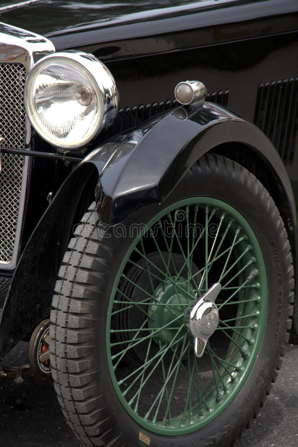 Vintage sports car detail royalty free stock images