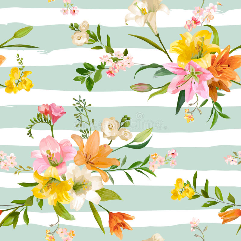 Vintage spring flowers background seamless floral lily pattern download vintage spring flowers background seamless floral lily pattern stock vector illustration of garden mightylinksfo