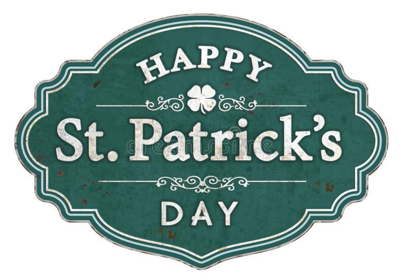 Vintage St Patrick's Day Art Sign imagens de stock royalty free