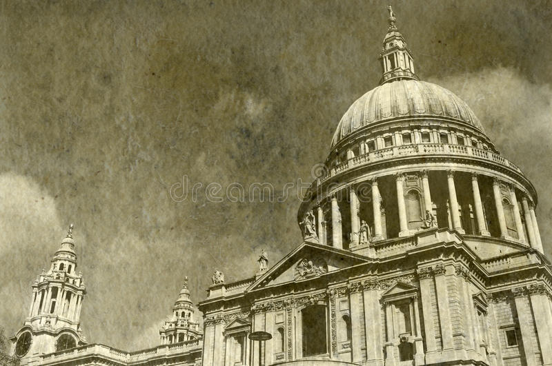 Vintage St. Paul S Cathedral In London Stock Illustration