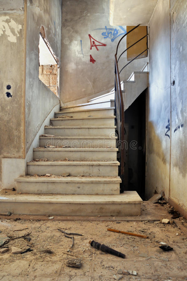 Download Vintage Staircase And Dirty Floor Stock Photo - Image: 22216154