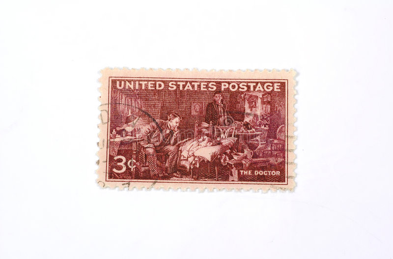 Vintage Stamp stock photography