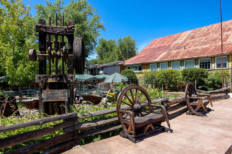 Vintage Stamp Mill in California stock image