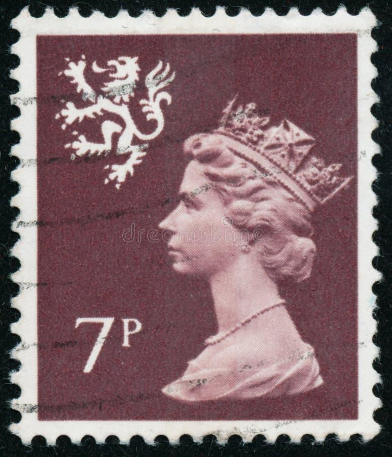 Vintage stamp printed in Great Britain 1978 shows Queen Elizabeth II, Regional Definitives, Wales. POLTAVA, UKRAINE - JUNE 26, 2019. Vintage stamp printed in royalty free stock photo