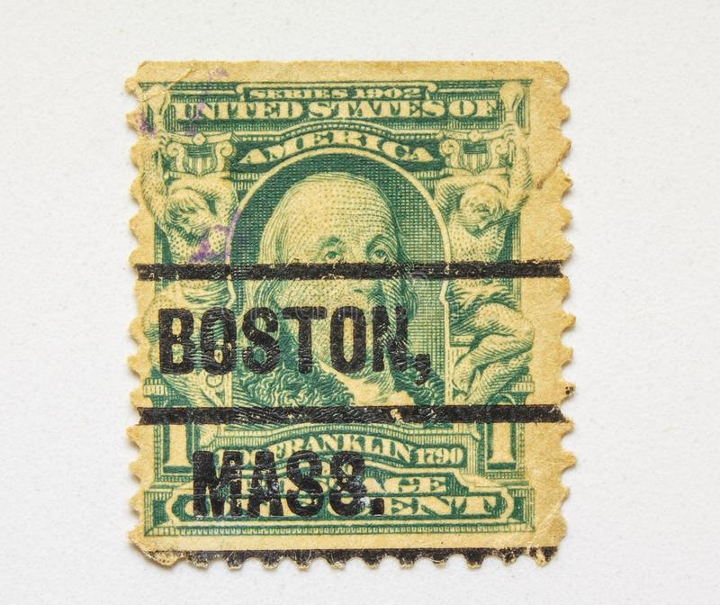 VINTAGE STAMP. U.S. Dollar. Limited Series. royalty free stock image