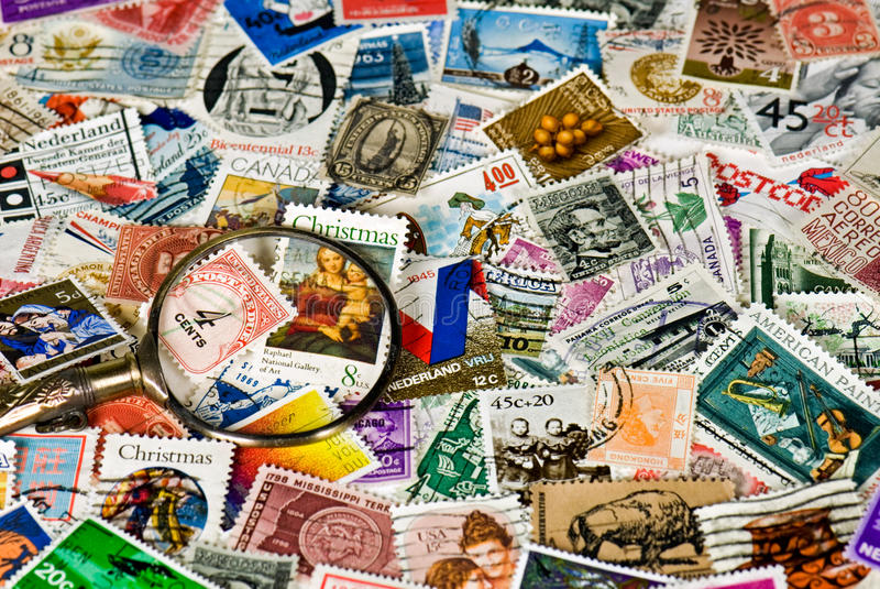 Download Vintage Stamps Stock Image - Image: 10620651