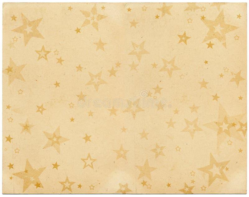 Vintage Stars. Faded stars on old vintage paper royalty free illustration