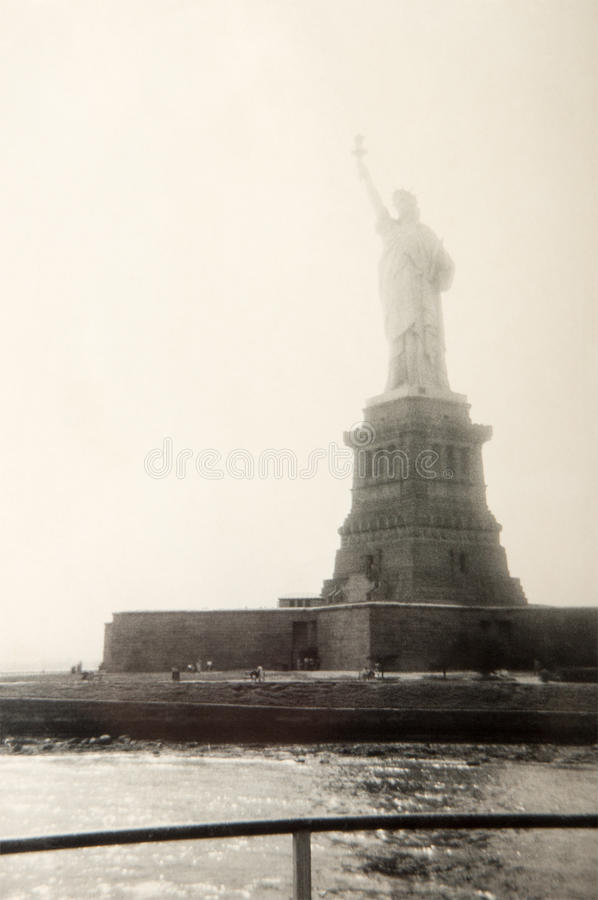 Vintage Statue Liberty, New York City royalty free stock photography
