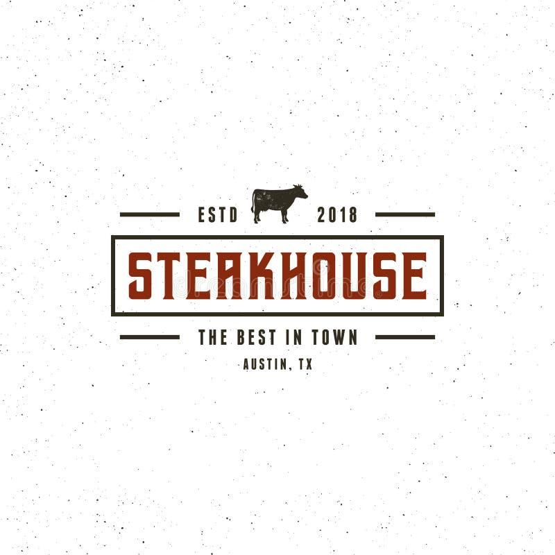 Vintage steak house logo. retro styled grill restaurant emblem. vector illustration vector illustration