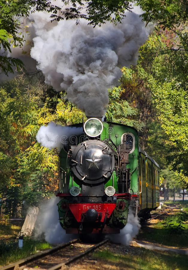 Free Vintage Steam Locomotive. Open-air Museum Stock Photography - 134653152
