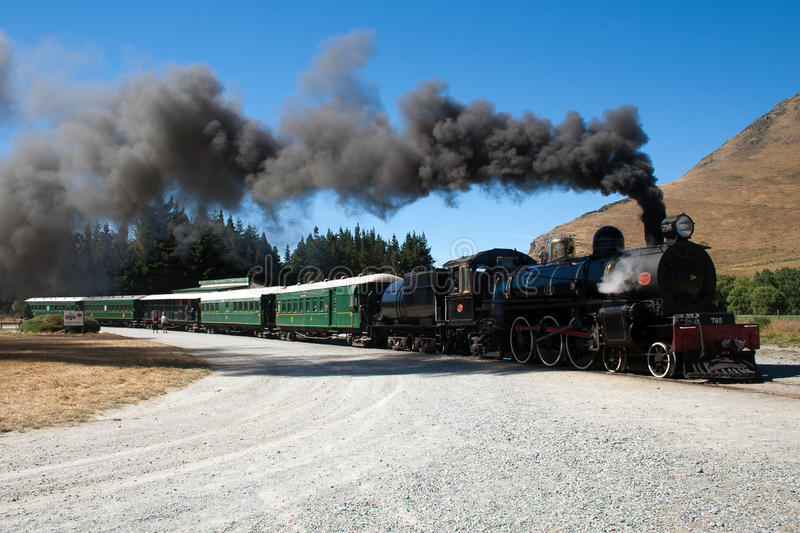 A vintage steam train royalty free stock image