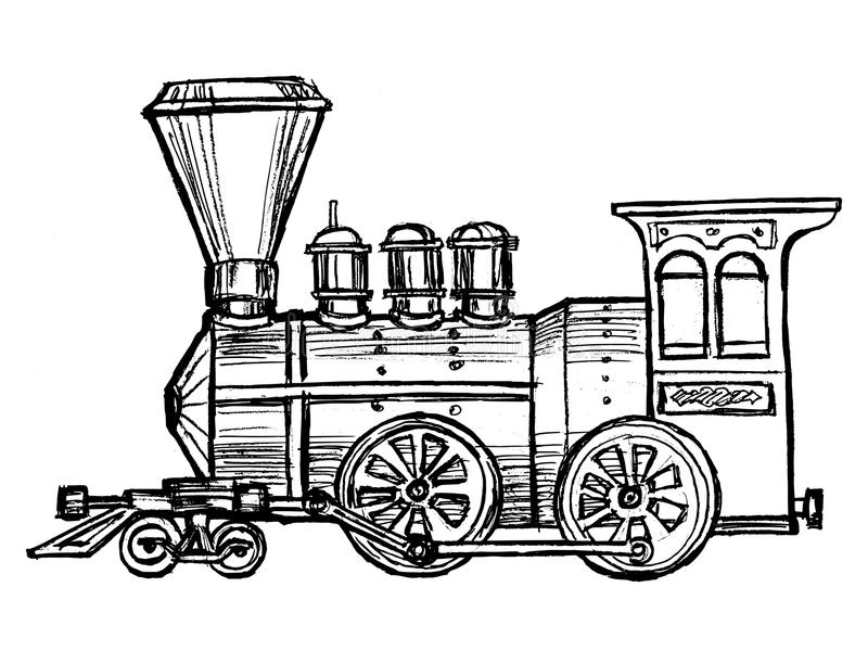 Steam Engine Train Stock Vector Illustration Of Wood