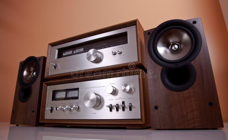 Download Vintage Stereo Amplifier Tuner Speakers Stock Image - Image: 26524475