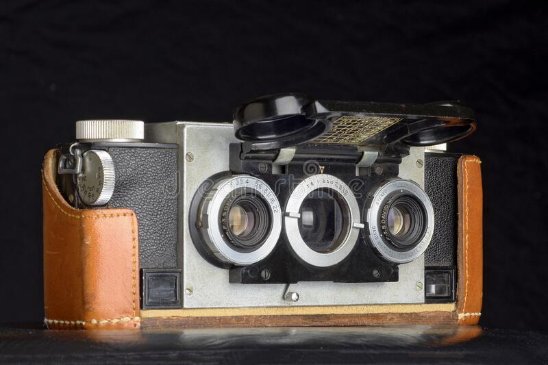 Vintage Stereo Realist camera royalty free stock photography