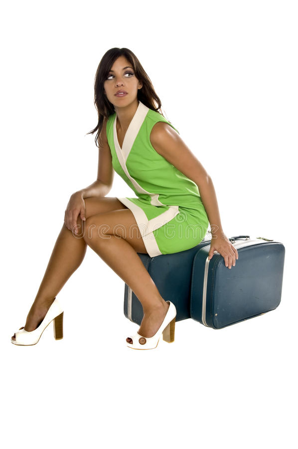 Vintage Stewardess Stock Images