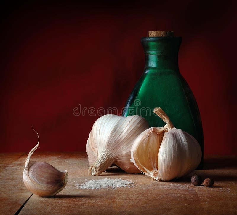 Vintage still life with spices royalty free stock photo