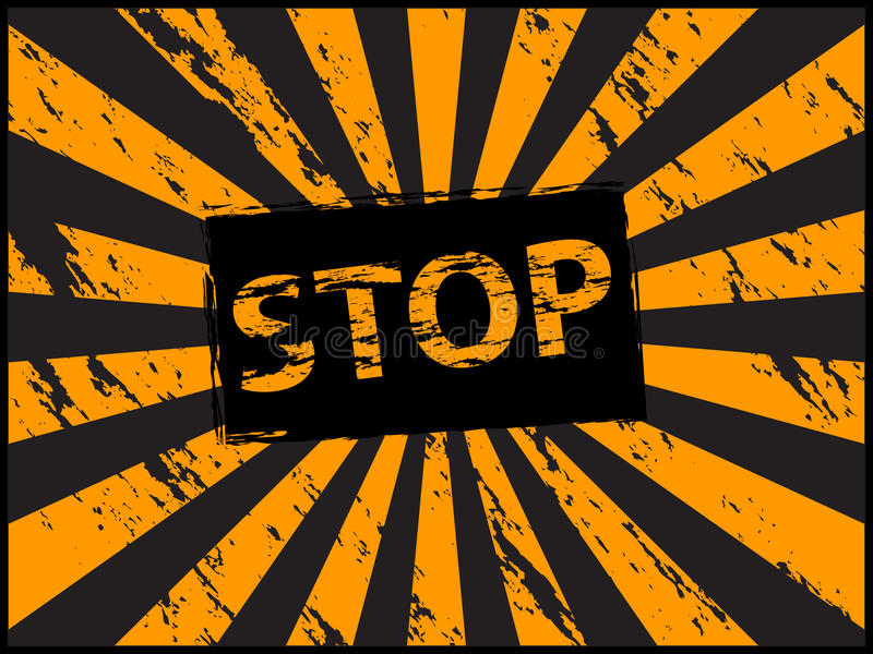 Vintage stop sign royalty free illustration