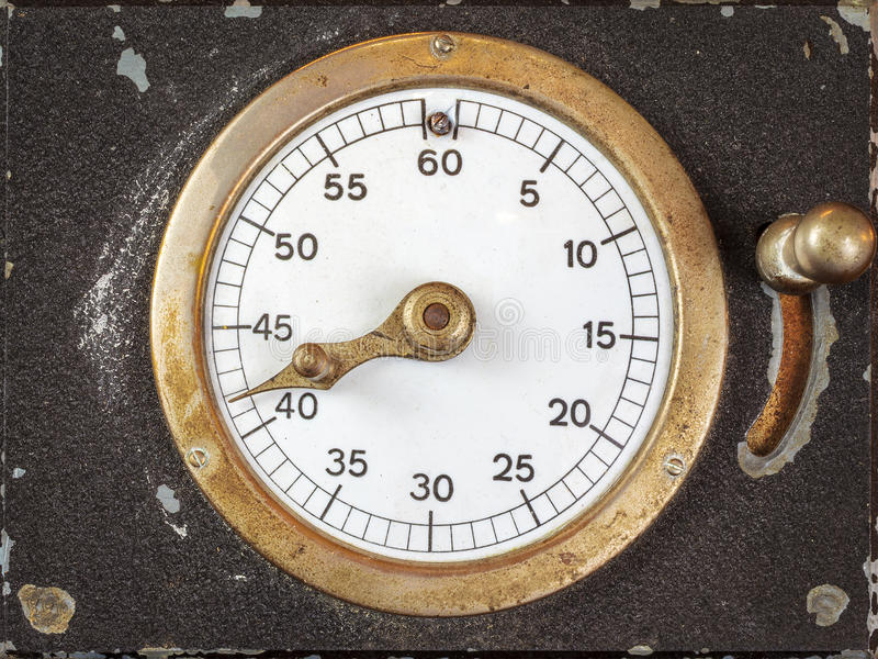 Vintage stopwatch with seconds indicator royalty free stock photo