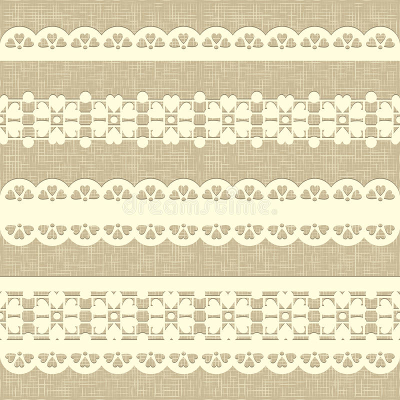 Download Vintage Straight Lace On Linen Canvas Background. Stock Vector - Illustration of backdrop, graphic: 24426507